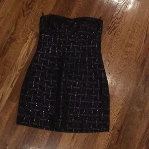 NY&Co brocade strapless cocktail dress 4